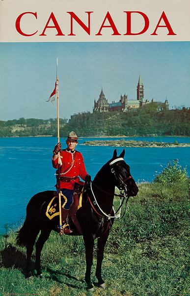 Canada, Original Travel Poster  Mountie Photo