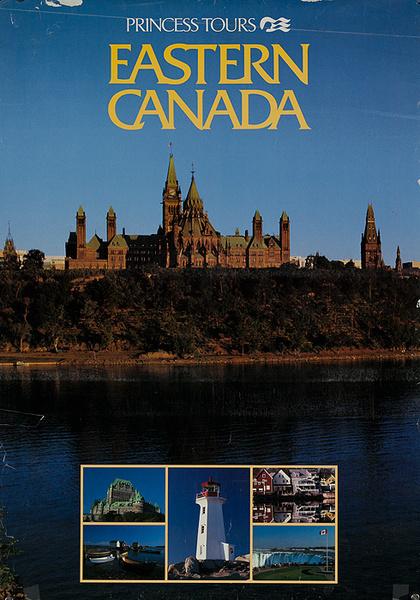 Princess Tours Eastern Canada Original Travel Poster