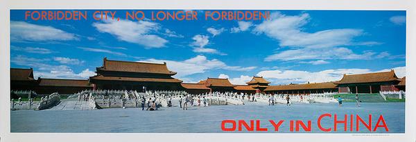 Forbidden City, No Longer Forbidden Original Beijing China Travel Poster