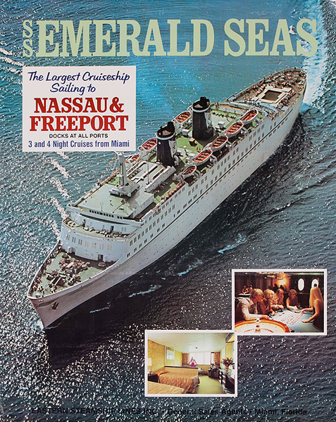 SS Emerald Seas Nassau Freeport Original Caribbean Cruise Poster