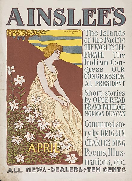 Ainslee's April Original American Literary Poster