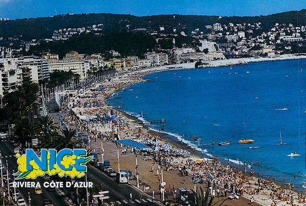 Nice Riviera Cote d'Azur Original French Travel Poster