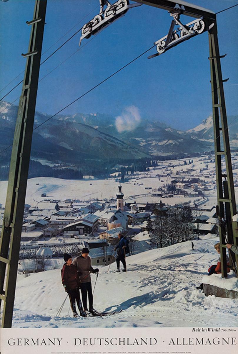 Original German Travel Poster Ski Photo Reit im Winkl