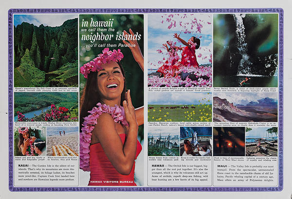 In Hawaii We Call Them Neighbor Islands Original Travel Poster