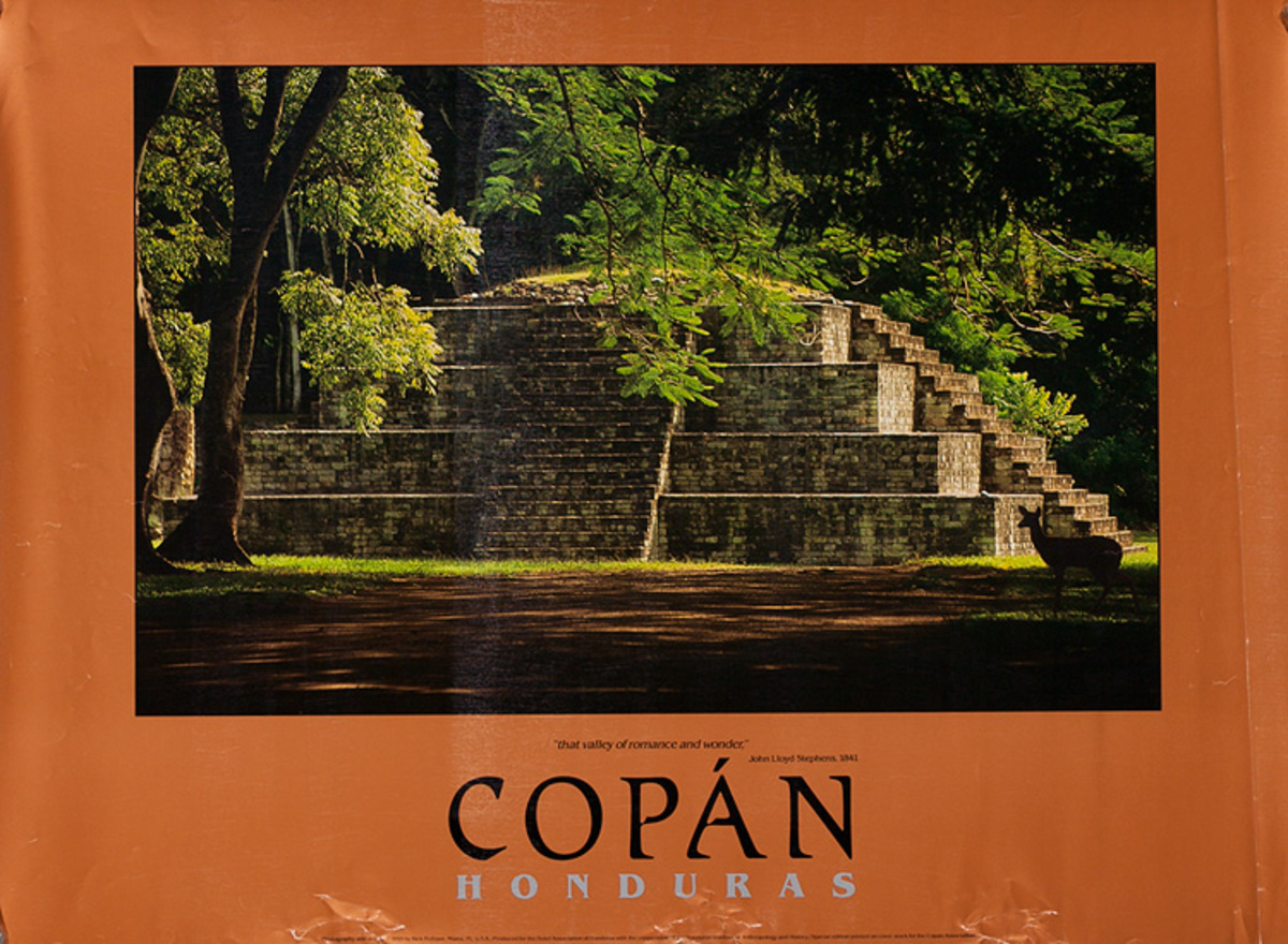 Copan Honduras Original Travel Poster