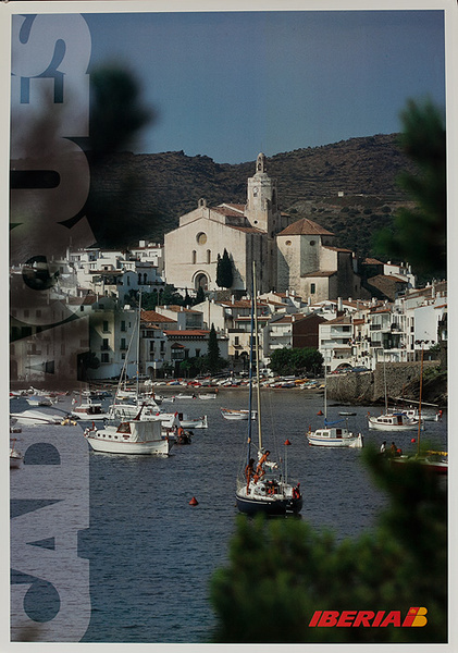 Iberia Airlines Original Travel Poster Cadaques Photo