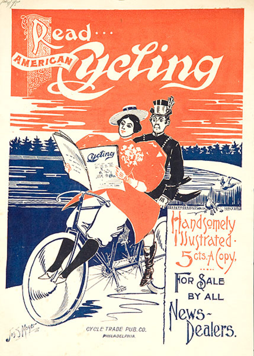 Read American Cycling Original American Literary Poster