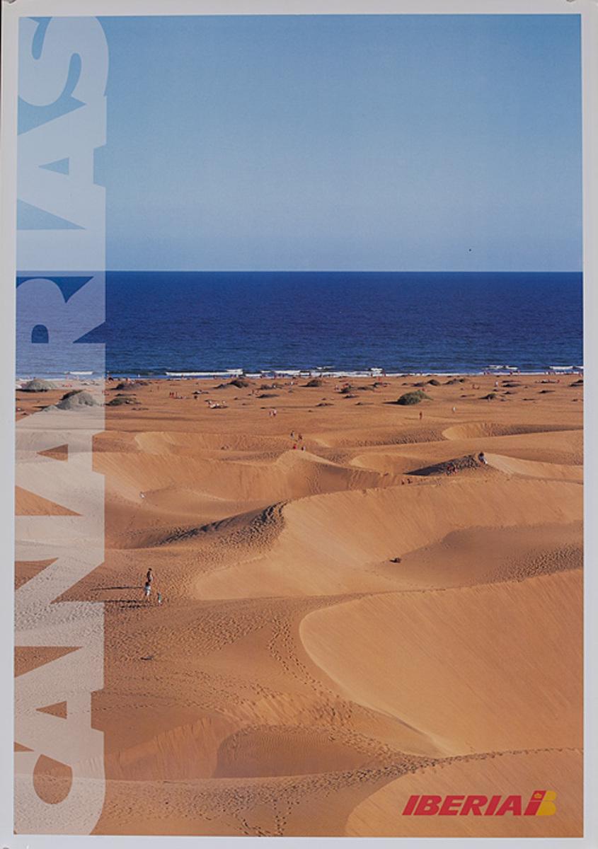 Iberia Airlines Original Travel Poster Canarias Canary Islands
