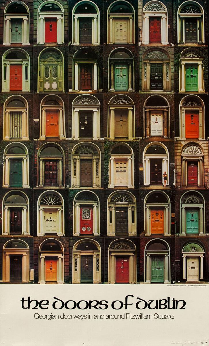 The Doors of Dublin Original Irish Travel Poster