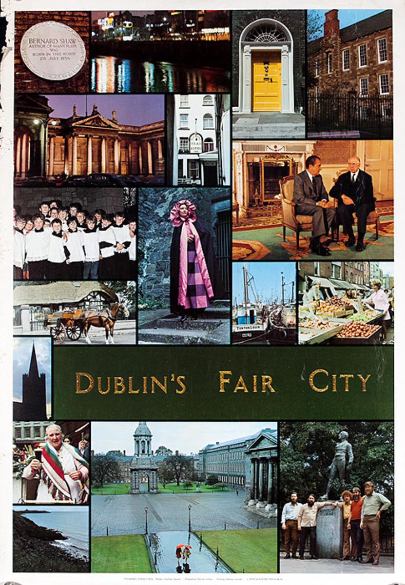 Dublin's Fair City Original Irish Travel Poster