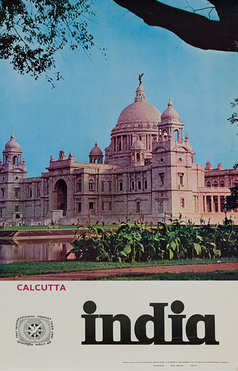 Calcutta India Original Travel Poster