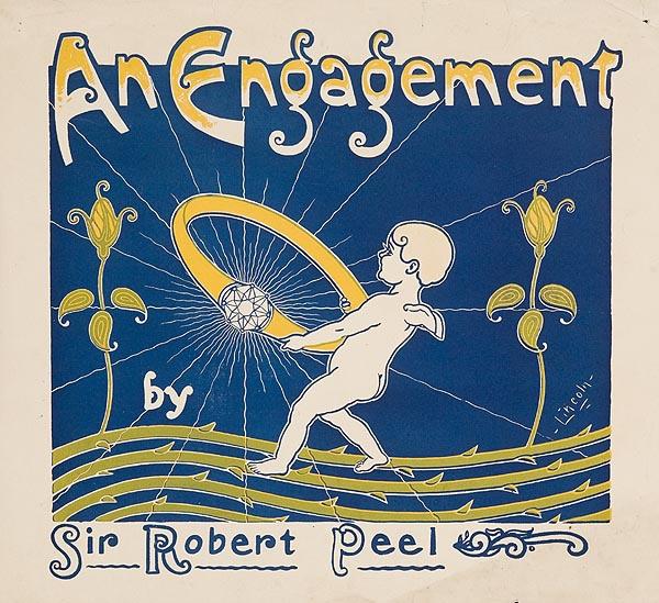 An Engagement by Sir Robert Peel Original American Literary Poster