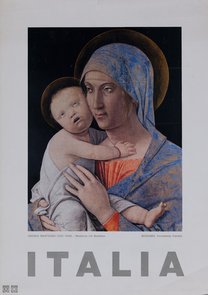 Italia Original Italian Travel Poster Madonna and Child