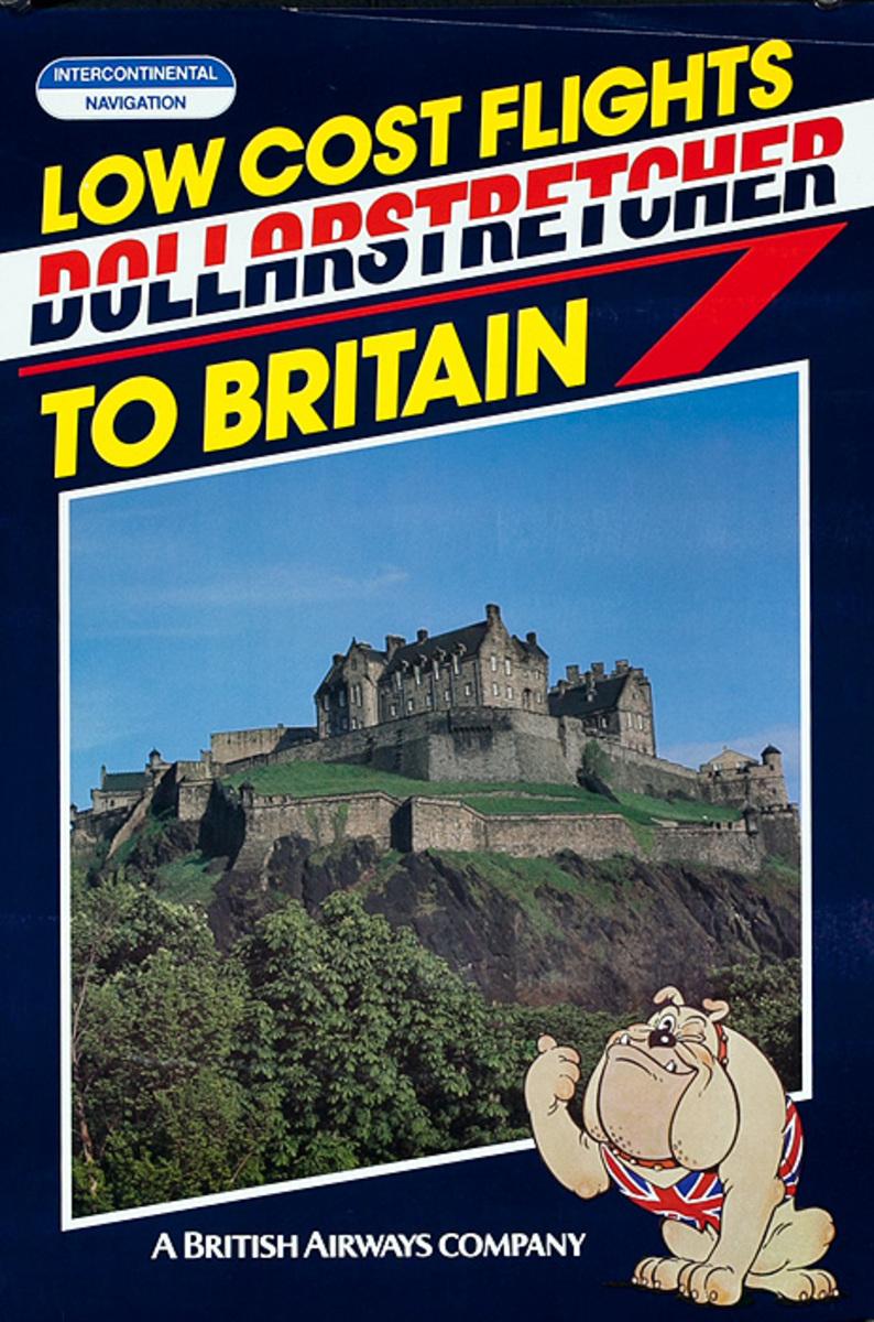 Low Cost Flights to Britain Original British Airways Travel Poster