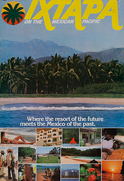 Ixtapa On the Mexican Pacific Original Travel Poster