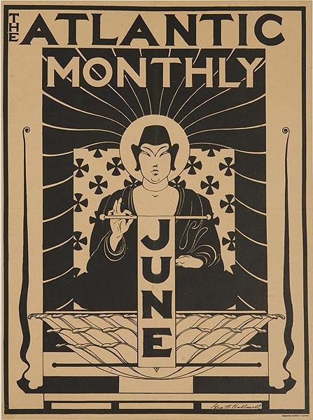 Atlantic Monthly June Original American Literary Poster