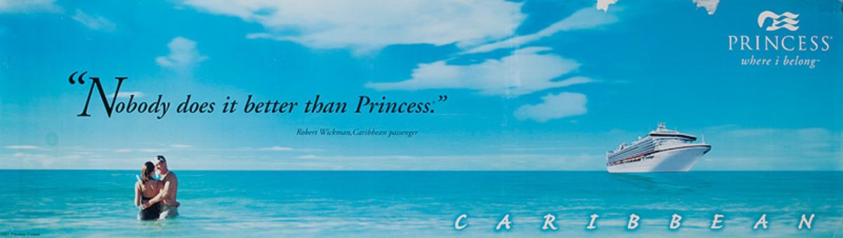 Princess Caribbean Nobody Does it Better.. Original  Cruise Travel Poster