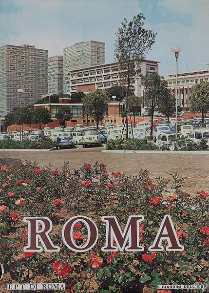 Roma Rome italy Travel Poster The Garden of Europe