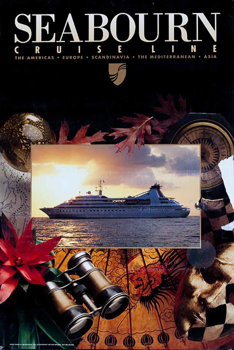 Seabourn Cruise Line Original Travel Poster