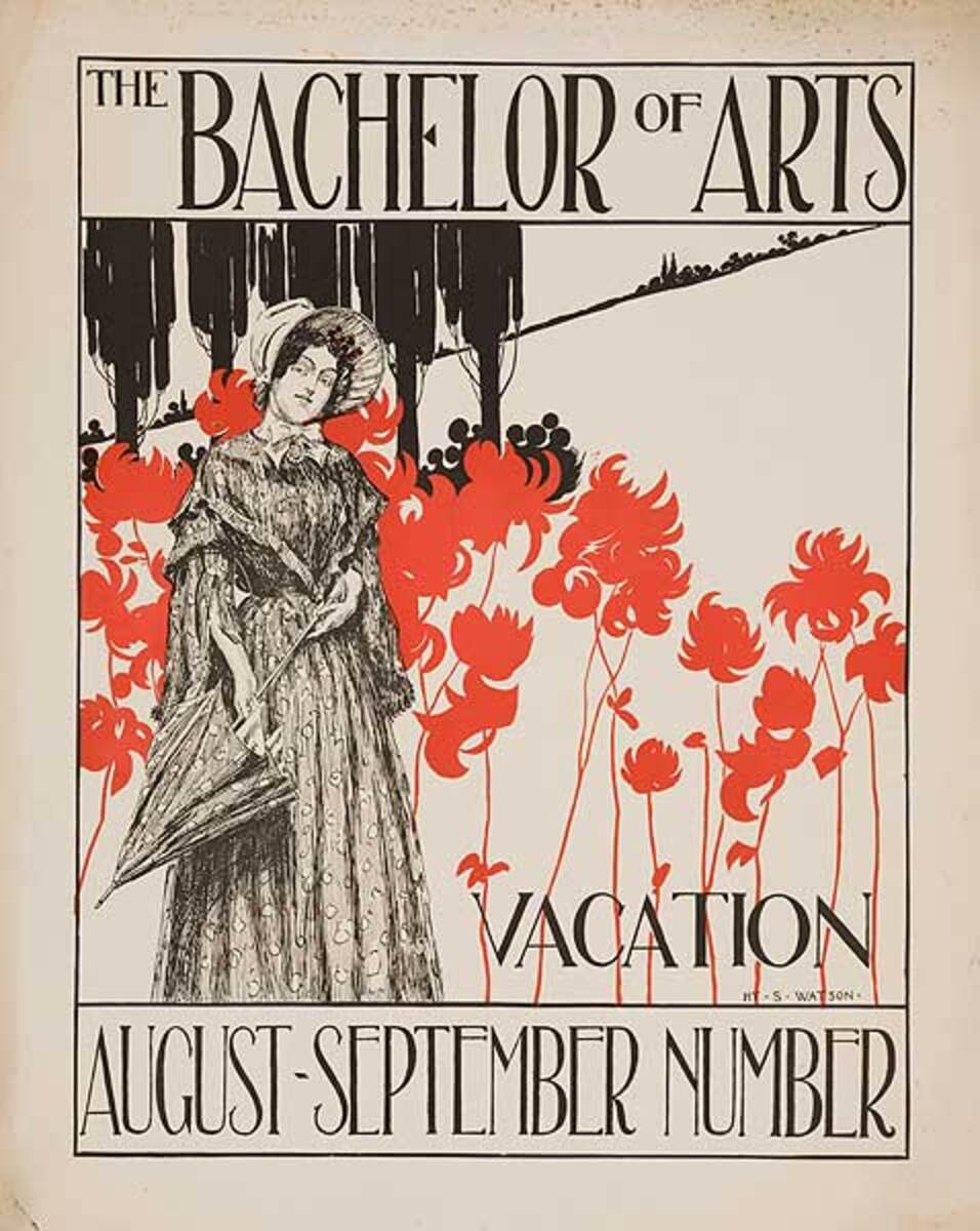 Bachelor of Arts Vacation Number American Literary Poster