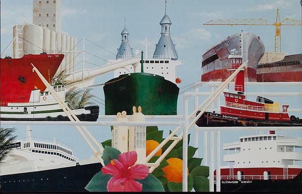 Original Shipping Poster Tug, Cruiseline, Tanker
