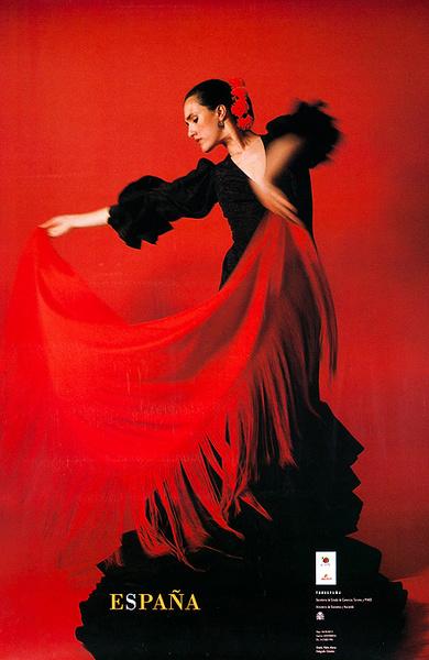 España Spain Original Travel Poster Flamenco Dancer photo