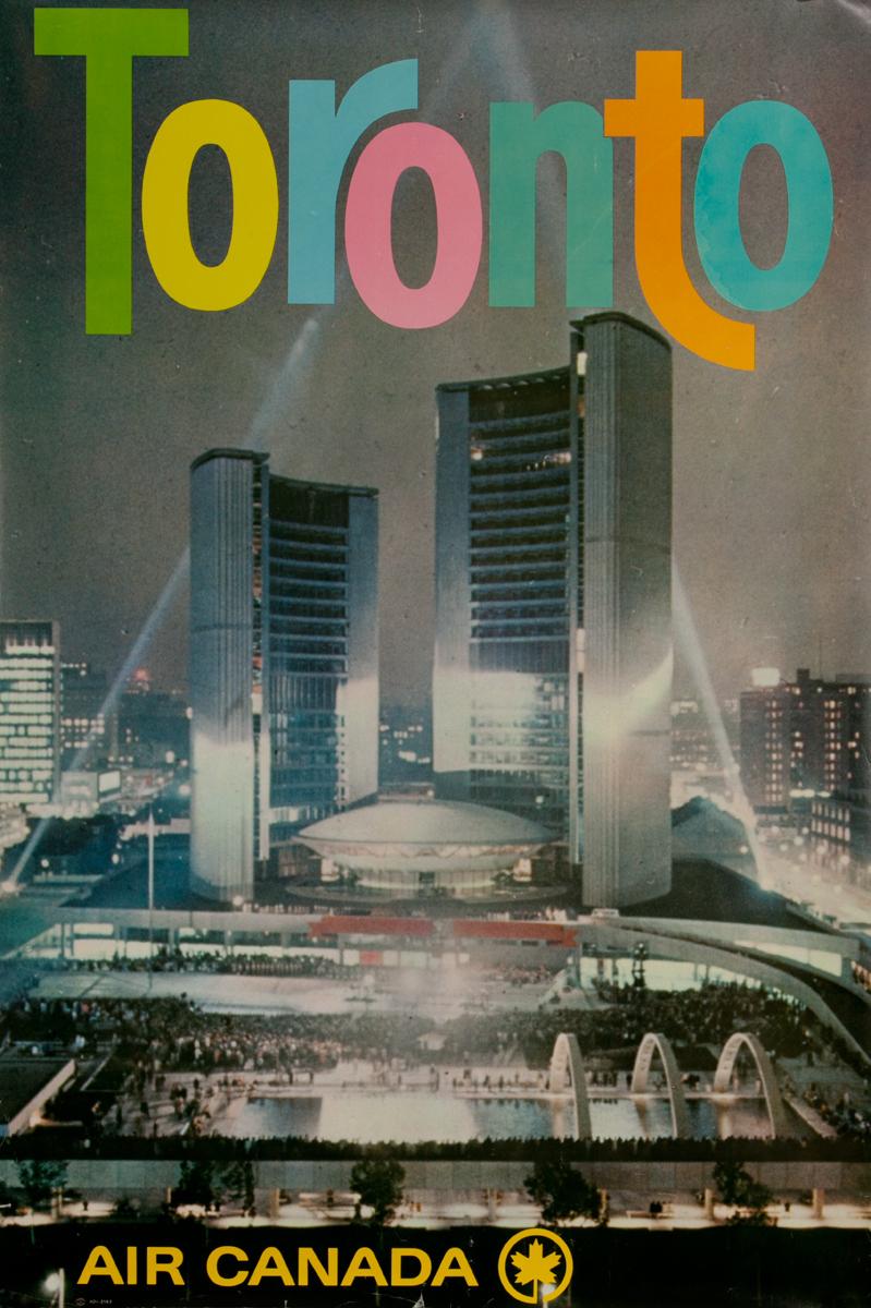 Original Air Canada Toronto Travel Poster