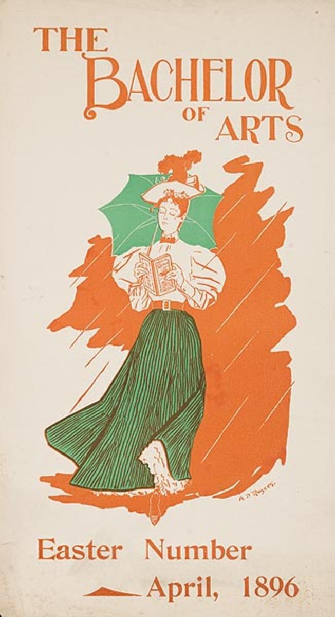 Bachelor Of Arts Original American Literary Poster