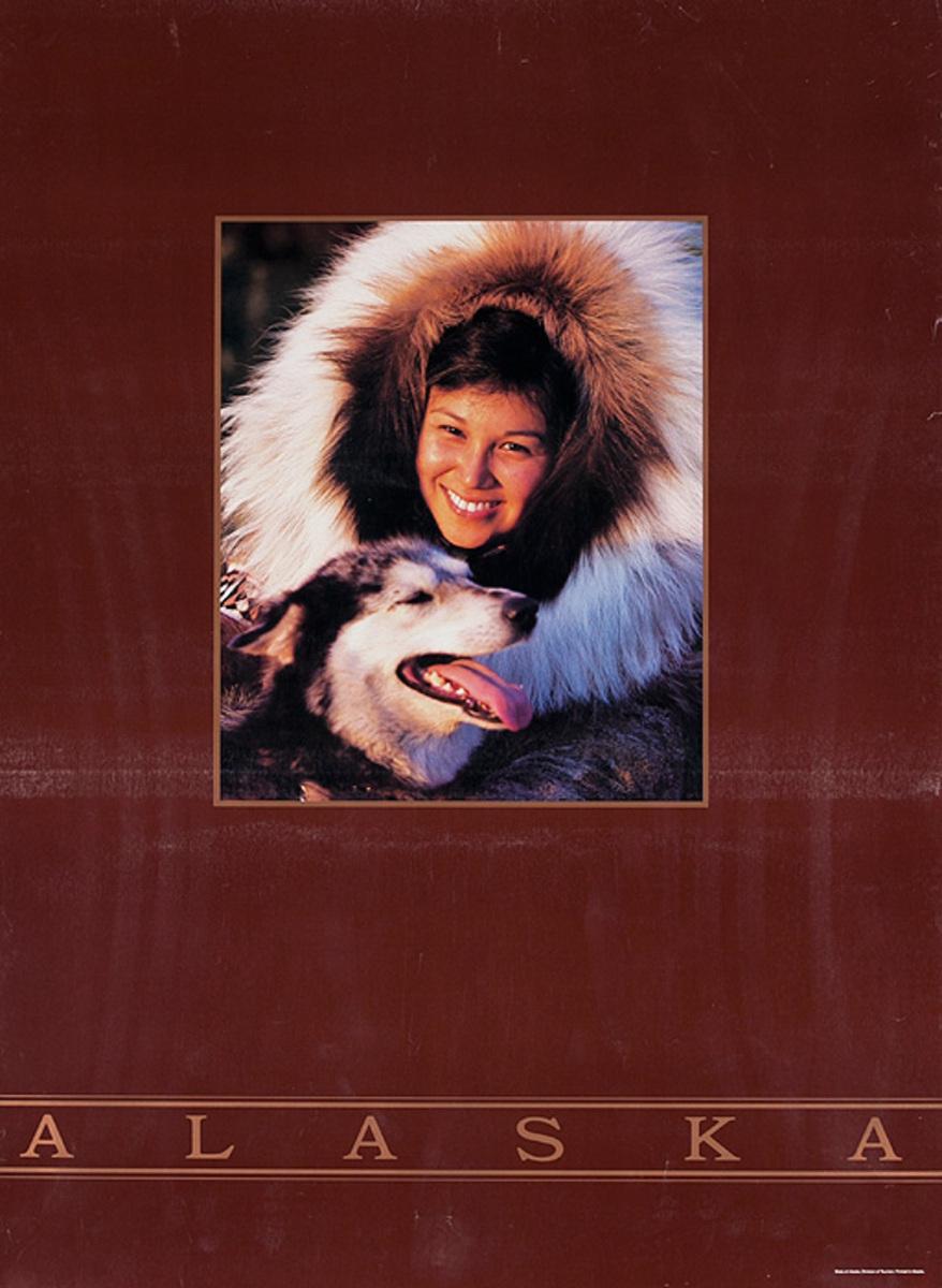 Alaska Eskimo Original American Travel Poster