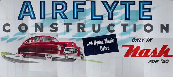 Airflyte Construction Only in the Nash for '50 Original Automobile Advertising Poster