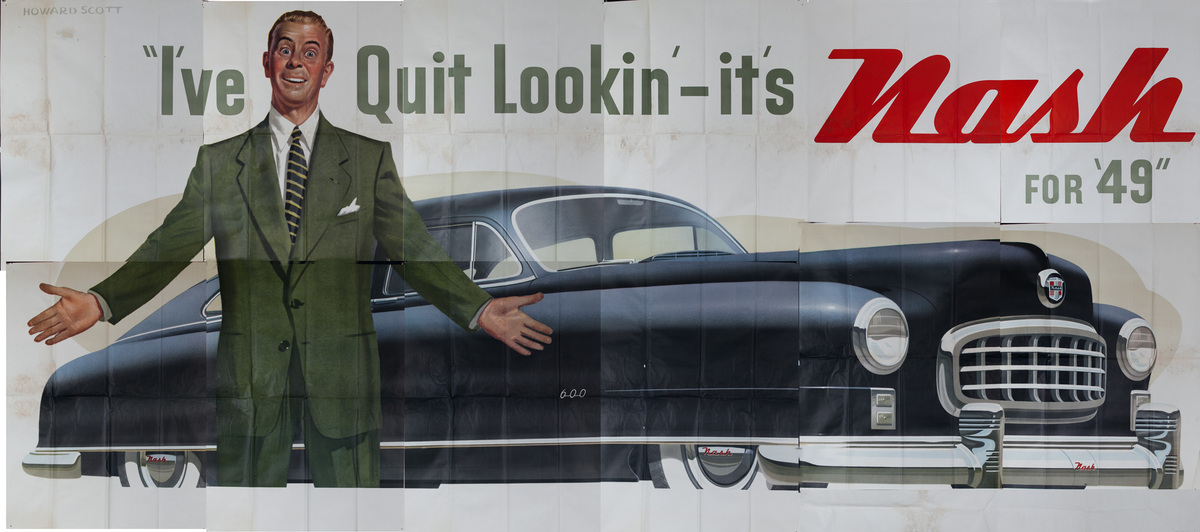 I've Quit Lookin it's Nash for '49 Original Automobile Advertising Poster