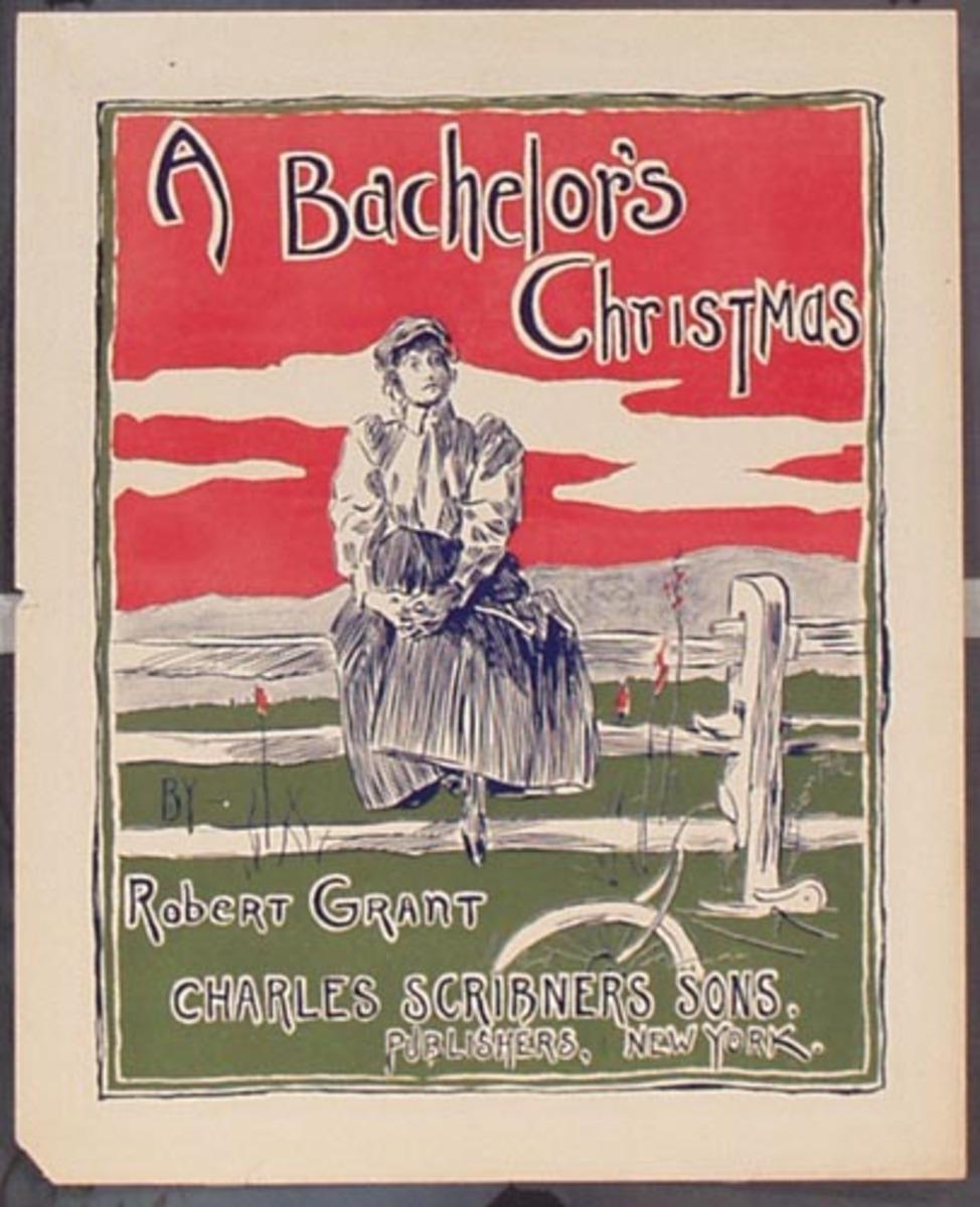 A Bachelor's Christmas Original Vintage Literary Poster