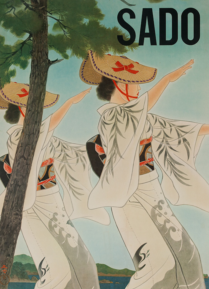 Sado Japan Original Travel Poster