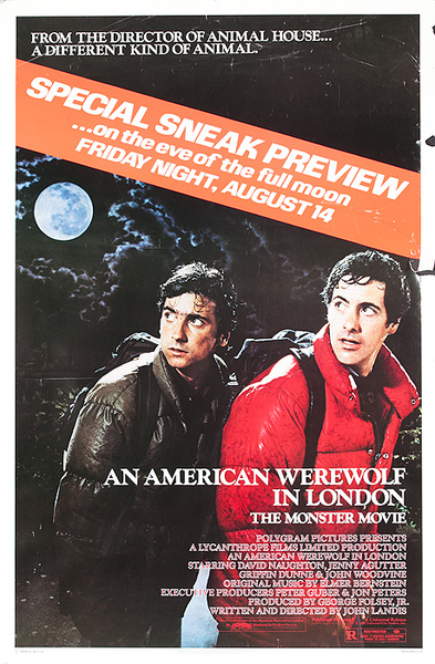 An American Werewolf in London Original American Movie Poster