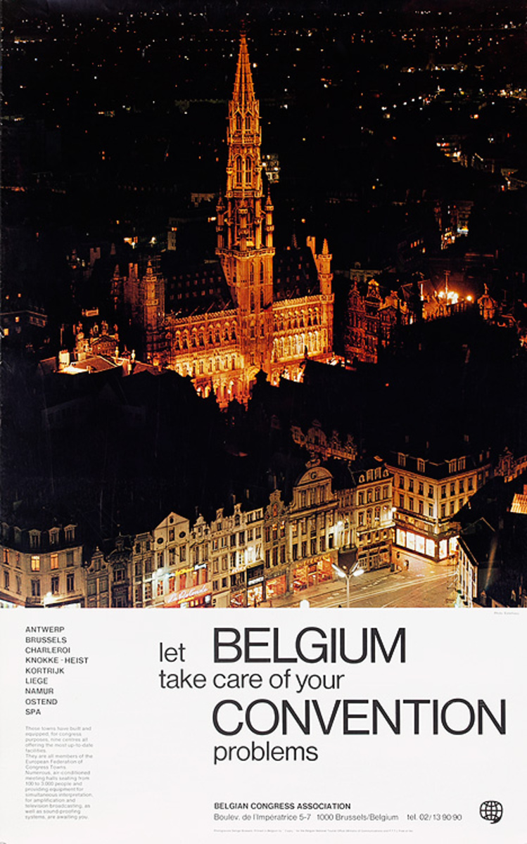 let Belgium take care of your Convention Original Travel Poster