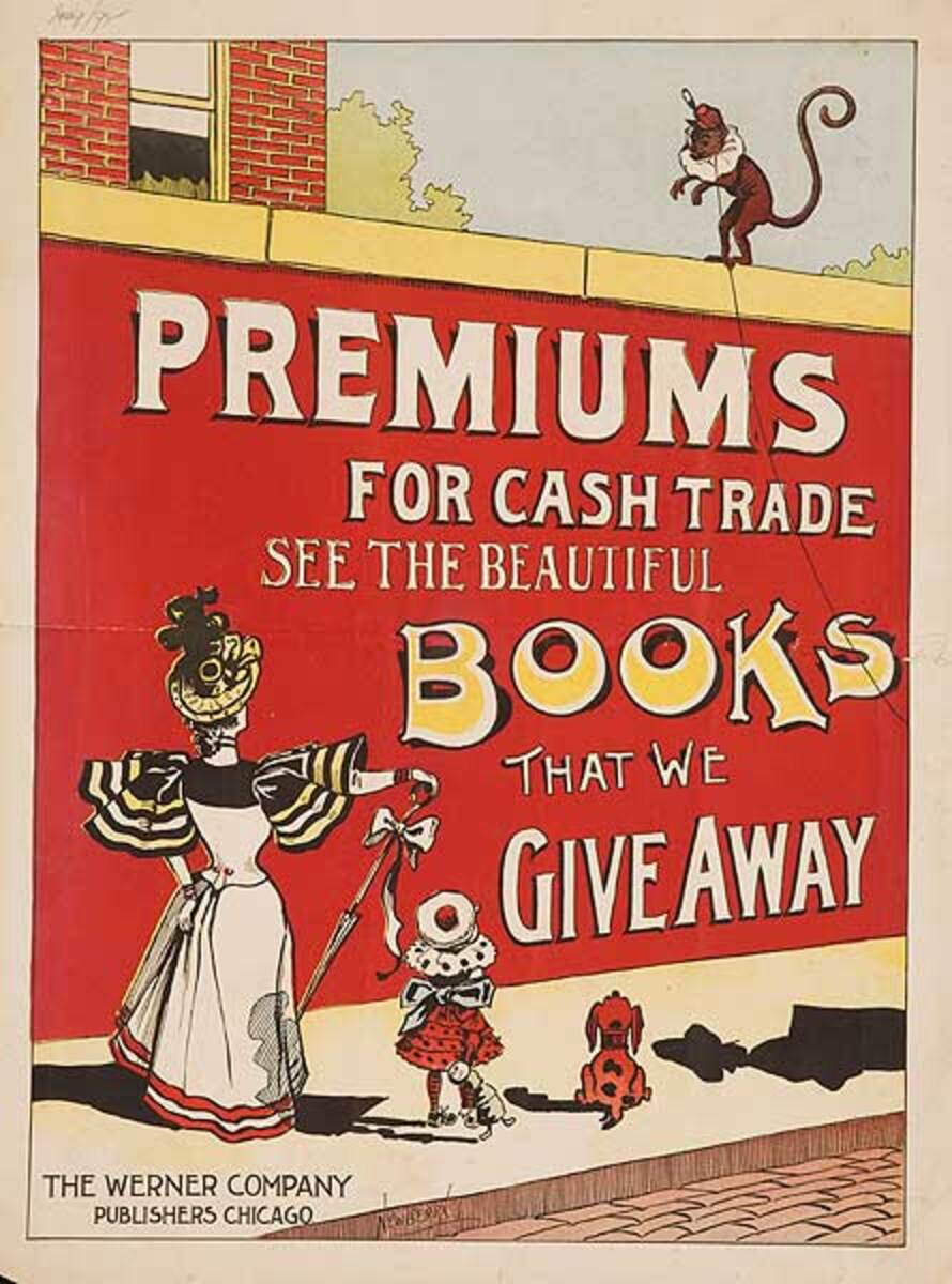 Books That We Give Away, The Werner Company Chiago American Advrtising Poster