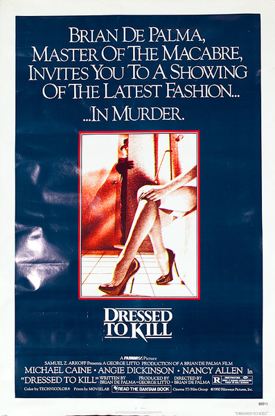 Dressed to Kill Original American Horror Movie Poster