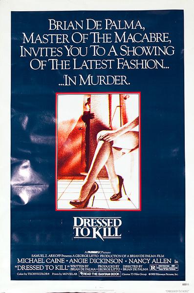 Dressed to Kill Original American Horror Movie Poster