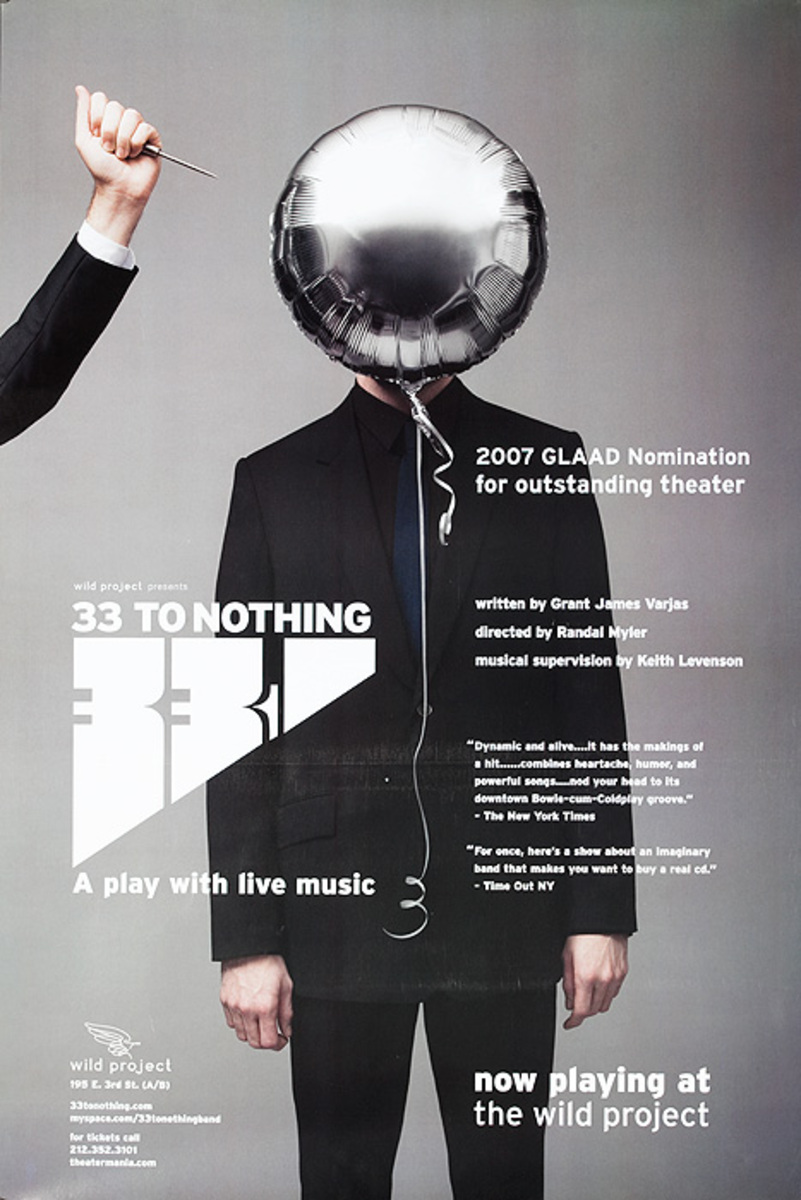 33 to Nothing Original Theater Poster