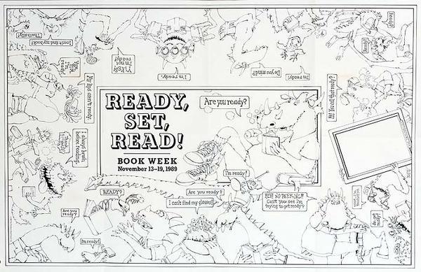 Ready Set Read Original American Book Week Poster
