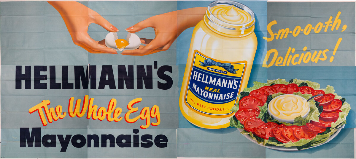 Hellmann's The Whole Egg Mayonnaise Original American Advertising Billboard tomatos