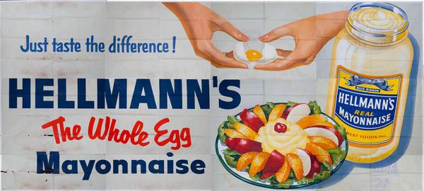 Hellmann's The Whole Egg Mayonnaise Original American Advertising Billboard fruit salad
