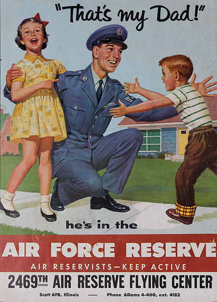 That's My Dad Original Korean War Era Air Force Reserve Poster