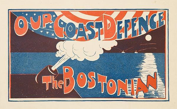 Our Coast Defense Bostonian Magazine Original American Literary Advertising Poster