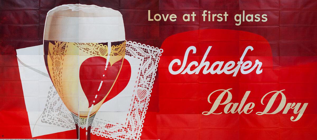 Love At First Glass Original Schaefer Beer Advertising Billboard