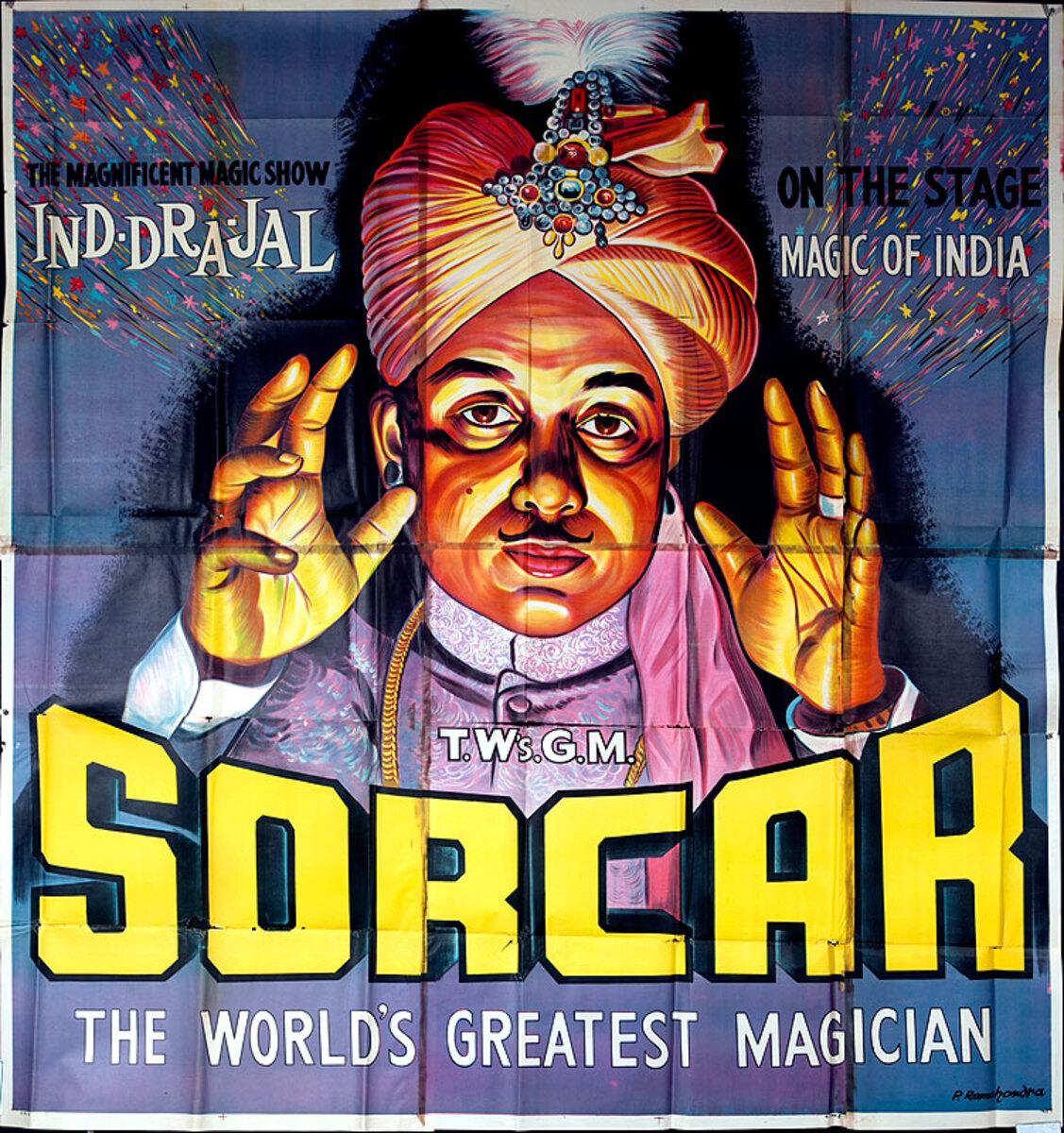 Sorcar The World's Greatest Magician Original American Magic Poster