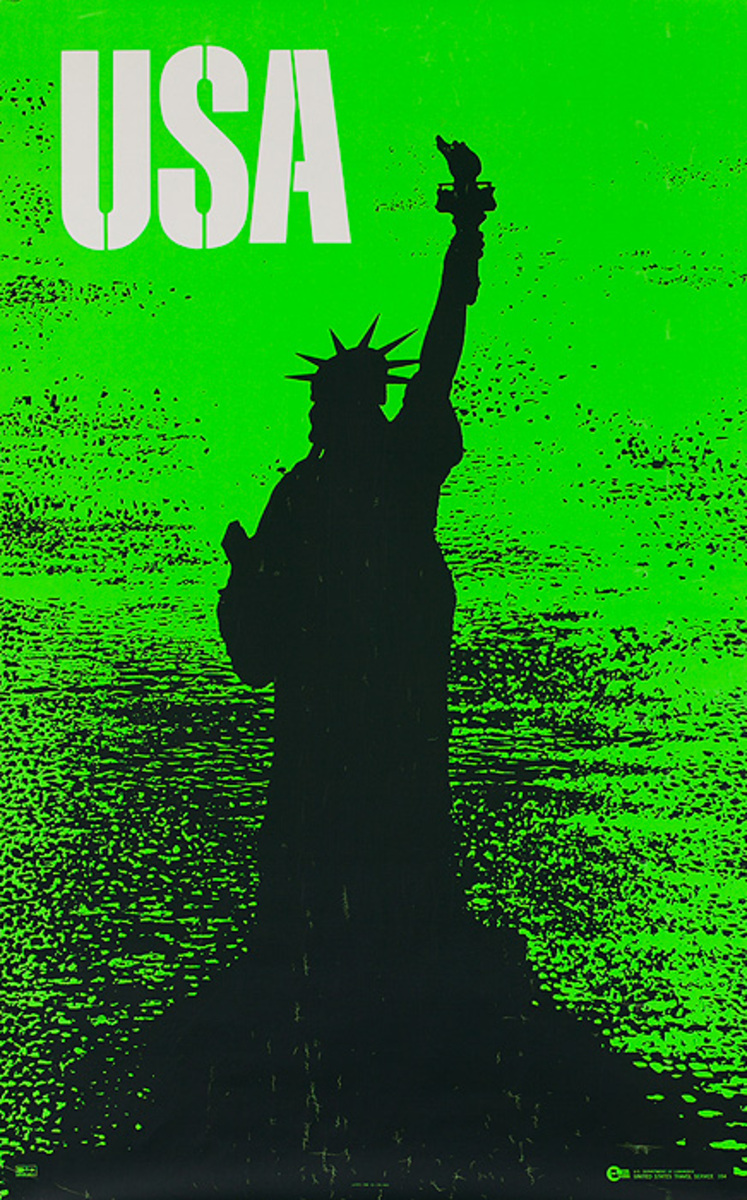 USA Statue Of Liberty United States Travel Service Poster