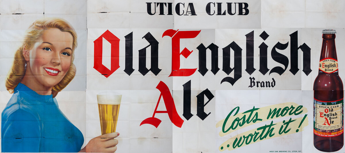 Utica Club Old English Aie Original American Billboard