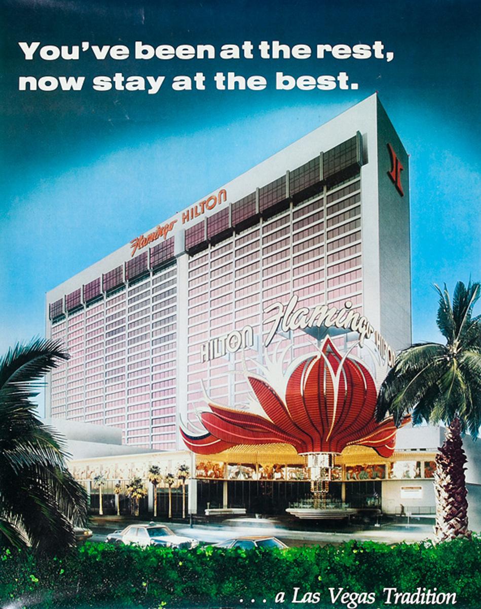 Flamingo Hilton Las Vegas Original American Travel Poster
