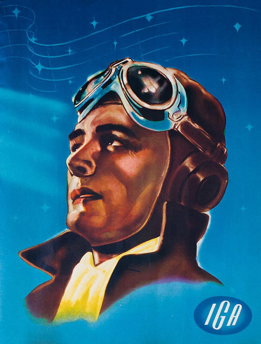 Original WWII Poster IGA Pilot